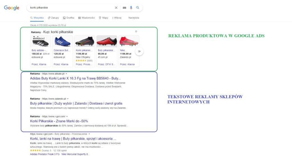 Google oferuje sklepom internetowym różnorodne formy reklamy